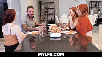 Busty Redhead Invites Boyfriend To Meet Her Moms They Have A Foursome 8 min