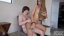 Ivy With The Perfect Body Gives Buff White Boy The Ride Of His Life