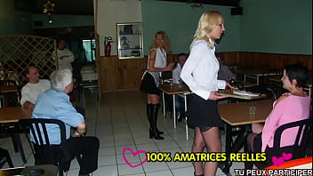 3 horny anal maids fucked at restaurant