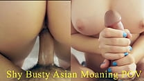Shy Big Tit Asian Really Tight Pussy Moaning And Crying That She's Cumming On Big Cock. Sexy Japanese Round Ass. English-Spanish Subtitles, POV