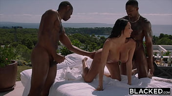 BLACKED Hot French girl gets DPed by two huge BBCs at party