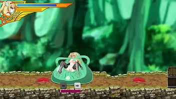 Cute blonde girl hentai having sex with male monsters in Sword of Resistance act ryona sex game