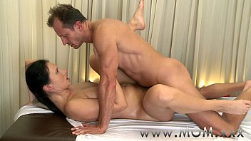 MOM Brunette has the massage of her life 11 min