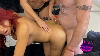 Trio con amiga trans. Teresa Ferrer Actriz Porno Mexicana 29 min