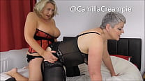 Camilla and Candy Cummings strap on sex Promo
