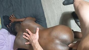 Black Thin Babe Jumps On Olmo's Big Viking Dick 2 min