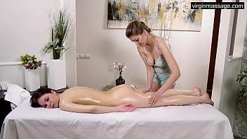 Big tits brunette virgin Ira Pizdunka massaged