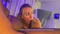 Chloe Sparkles Sucking Off Daddy's Friend
