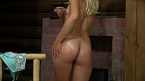A blonde with a juicy PAWG often masturbates in different places and inserts a dildo or panties into the vagina Homemade fetish