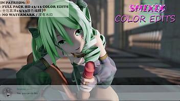 MIKU DANCE AND SEX MUSIC HENTAI 3D MMD SOFT GREEN HAIR COLOR EDIT SMIXIX (1/13) ️