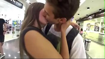 Russian hot girl teen kiss prank on strangers