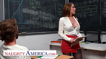 Naughty America - Professor Bianca Burke is beyond flattered when she finds out her student has been thinking of her and drawing her naked 6 min