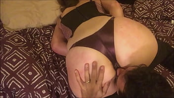 Sexy O2, T&A 659 - Clothed in my Satin Rose Dress, Black & Gold Thong 07