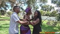 Ebony Amateur Fucks Black Cock Outdoors In Public