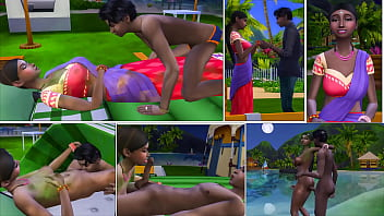 Indian Mom And Son Outside In The Sea Camping And Fuck His Indian Mother From Evening Until Dawn