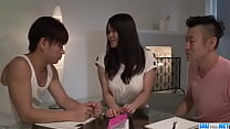 Strong threesome sex scenes with nasty Saki Sudou