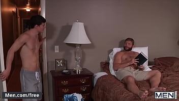 Muscly Bear (Colby Jansen) Eats Twinks (Tyler Sweet) Tight Ass Before Pounding It Doggystyle - Men