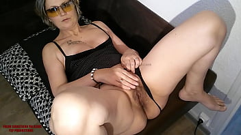 My cock in this slutty milf mom hairy pussy with a big latina ass creampie