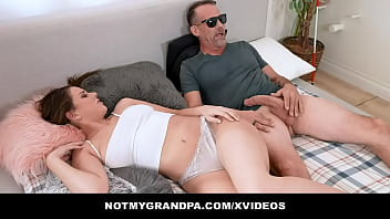 Horny Old Man Fakes Blindness And Spies On Hot Grand StepDaughter Ava Madison