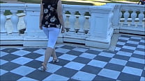 Ass  Leggings in public