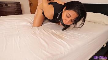 Latina in sexy dress gets tied up, gagged and fucked hard   My Nina