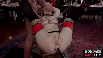 Bound sub dominated with toys and dick in group
