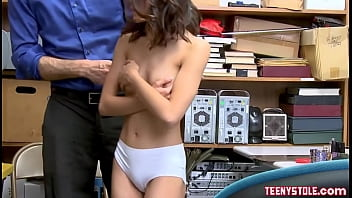 Brunette Asian Teen Shoplifter Agrees To Fuck With Officer