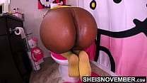 4k Msnovember Big Black Ass Needed to be Ate, so she got Stepdad to do It. Innocent StepDaughter Ass & Anus Ate Point Of View, After Pussy Fucked Cowgirl on Sheisnovember