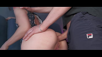 Instead of a big anal plug, my neighbor offered to put a huge cock in my narrow ass. He fucked my anal hole hard and filled it with creampie.