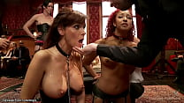 Milf and ebony are fucked at party
