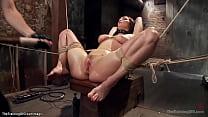 Big boobs trainee fucked with dildo