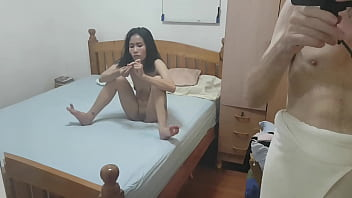 Maria shows you everything she's got between her legs and pops out her little clit