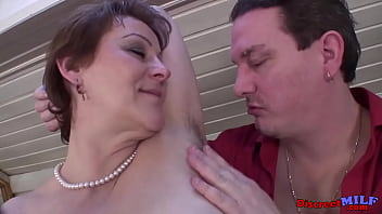 Mature wife have a hair fetish she likes when he licks her armpit hair and suck hair old pussy hair
