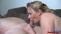 Lonely mature MILF let chubby guy with a small dick to fuck her