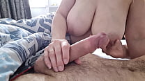 AleksKseNy - Young Mom with Big Tits Gets her Boyfriend's Fat Cock out of her Panties