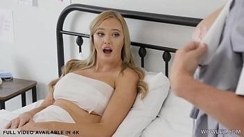 Hot nurse Kayley Gunner has lesbian sex with patient Paisley Porter 6 min