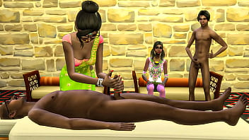 INDIAN MOM AND DAD TEACH BROTHER AND SISTER HOW TO MAKE A REAL MASSAGE