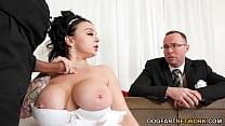 Payton Preslee's Wedding Turns Rough Interracial Threesome - Cuckold Sessions 8 min