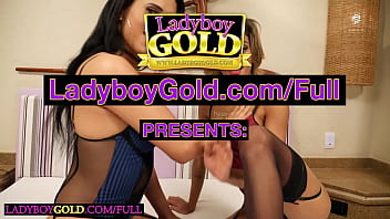Latina trannies Paty Cameron and Patricia Tavares fuck each other and a guy