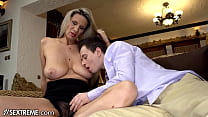 21Sextreme Mature Step-MILF Gives Hands-On Fucking Tutorial On Stepson's Huge Dick
