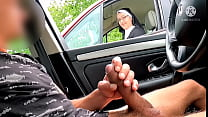 I take my big cock out on a motorway rest area ... OMG !! A nun this station next door ... how will she react? 8 min