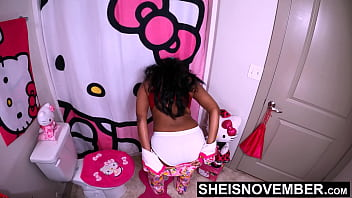 60fps Stripping Out Of These Hot Jammies In Full White Panties Wiggling My Thick Brown Donky Ass Cheeks Around, Msnovember Getting Ready For Bed, Needed To Get The Undies Out of Her Butt Crack, Close Up SFW Dairy Air Spread on Sheisnovember 47 sec
