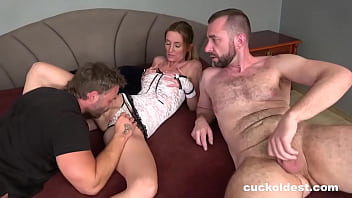 Submissive husband is allowed join