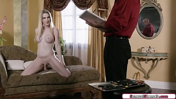 Busty shemale Kayleigh Coxx anal fucked