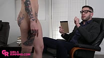 GIRLSRIMMING -  Rimming therapy session with Vanessa Vega and Wolf Hudson