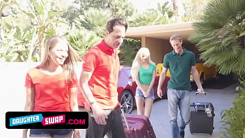 Hot Dads Trade Cute Teen Stepdaughters Elsa Jean And Liza Rowe pt.1