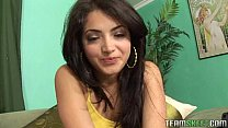 hot exotic beauty Andrea Kelly giving a deepthroat and getting fucked hard
