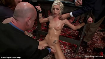Bound blond groped and public fucked 5 min