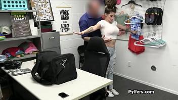 Security guard fucks hot sex toy stealing big tit