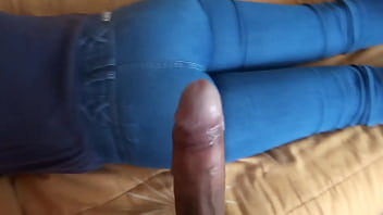 Enjoying the maid's ass while my wife watches me and masturbates